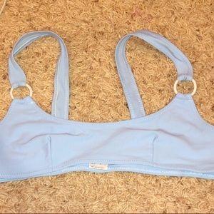 Light blue bikini top